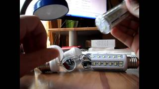 видео светодиодная лампа