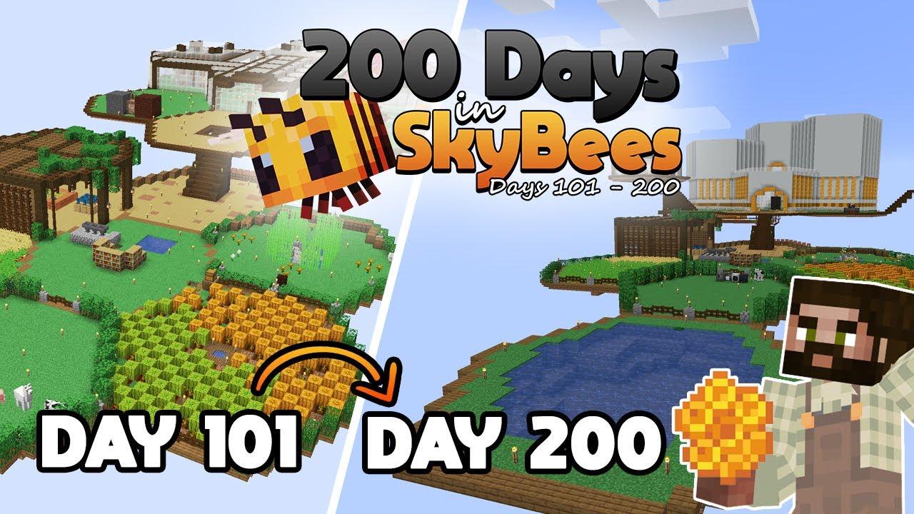 200 DAYS in Minecraft Skybees! #100days