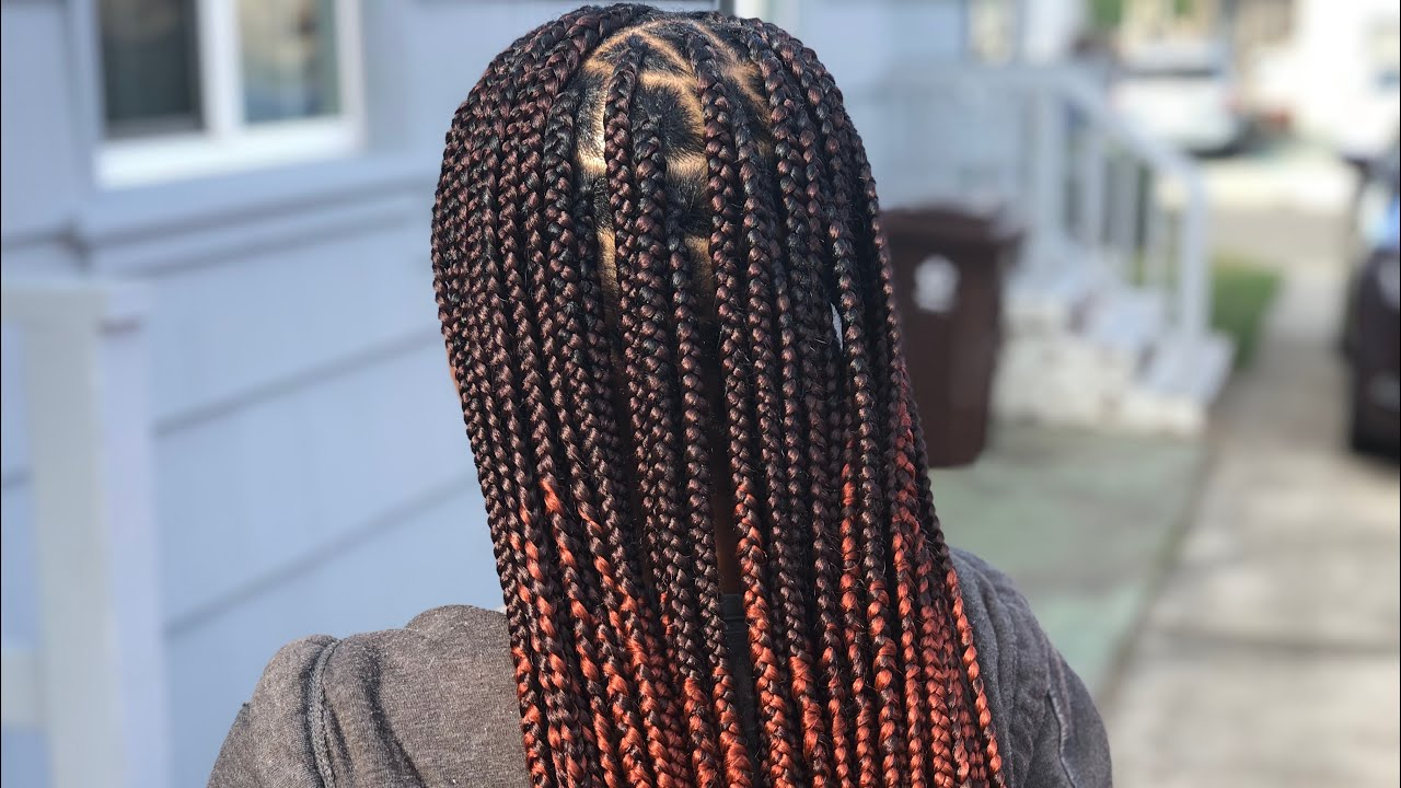 Knotless Box Braids Gripping Creating An Ombr 233 Youtube