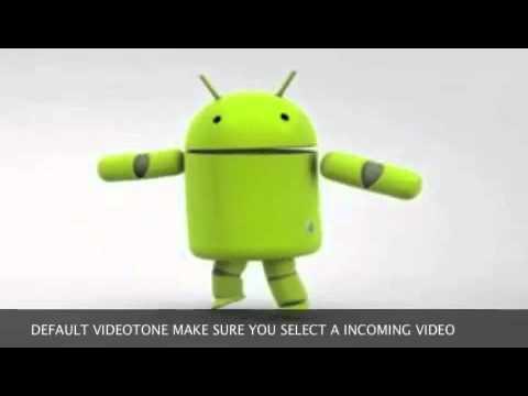 dancing android robot(default video for muz) videotonez video ringtone maker