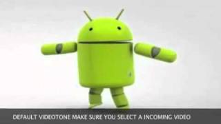 dancing android robot(default video for muz) videotonez video ringtone maker