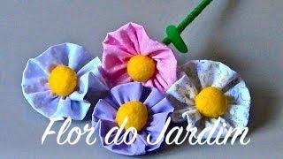 Novo modelo -Flor de tecido Passo a Passo -Flower tissue por flor do jardim