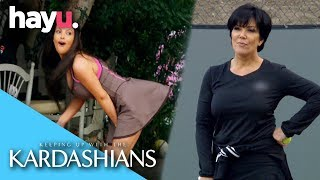Kris Jenner Grunts When She Plays Tennis | Keeping Up With The Kardashians