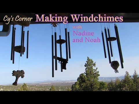 Making Wind Chimes with Nadine and Noah