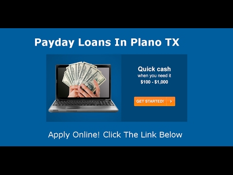 Payday Loans Plano, TX
