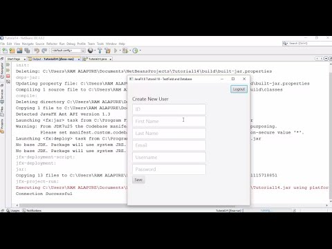 JavaFX 8 Tutorial 18 - TextFields and Database with Example