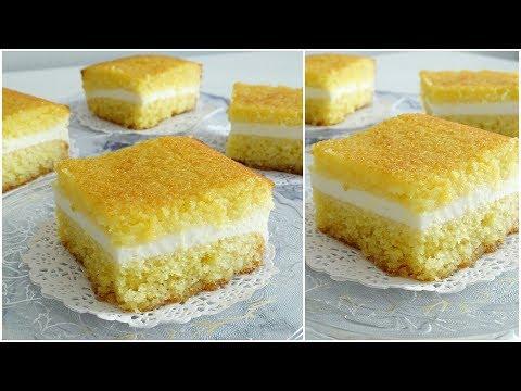 basboussa-À-la-crÈme-:-citron-|-rapide-et-facile-|-recette-gâteau-de-semoule-au-sirop-بسبوسة