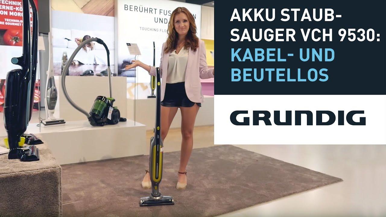 Grundig Akku-Staubsauger VCH 9530 mit Zyklon-Technologie ...