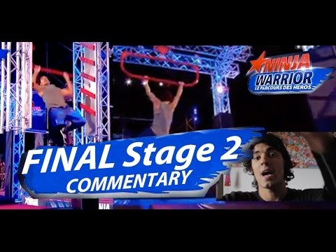 NINJA WARRIOR FRANCE FINAL STAGE 2 Competitor Commentary