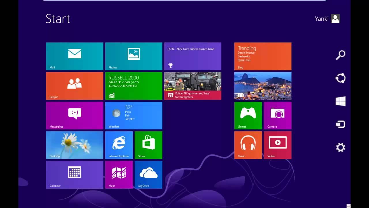 Minimize windows 8 start screen apps - YouTube