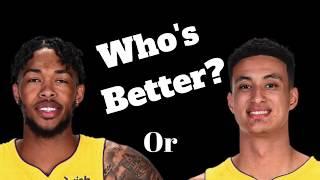 Brandon Ingram or KYLE Kuzma Who's BETTER? #Akis #Lakers #NBA