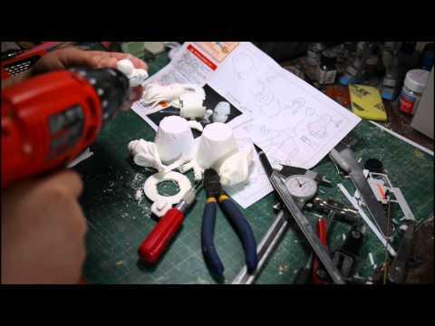 Resin Figure Model Building: Pinning
