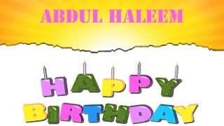 AbdulHaleem   Wishes & Mensajes - Happy Birthday