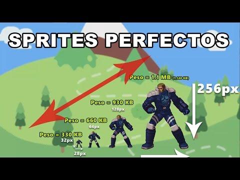 Tamaño correcto para los Sprites - Guía...