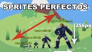 Tamaño correcto para los Sprites - Guía para crear vídeo-juegos