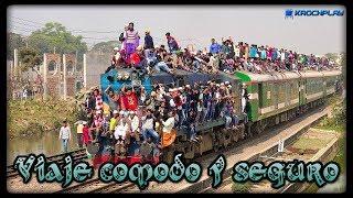 El tren más abarrotado de Bangladesh: Tren sale de la estación de Dhaka