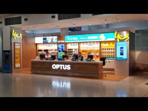 Optus Yes Prepaid Mobile SIM Card Plans, At Sydney Airport, Australia