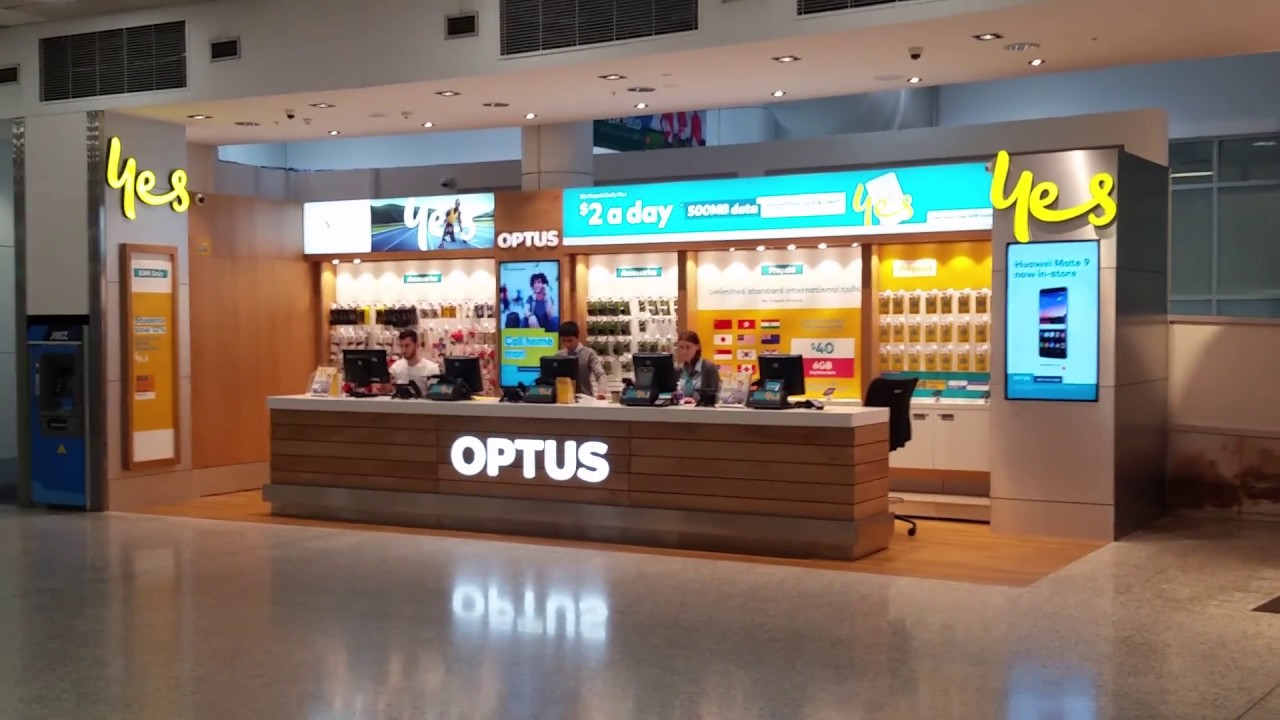 Sydney Airport Shops Optus Yes Prepaid Mobile Sim Card Plans At Sydney Airport Australia