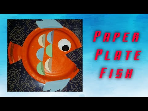 Paper Plate Fish / Paper Plate Crafts / Fish From Paper Plate