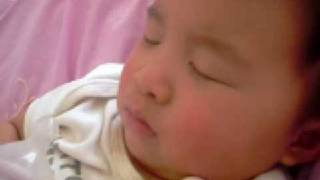 sleeping 8 month old baby snoring