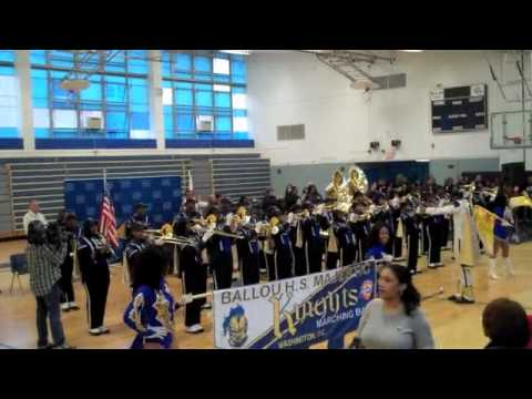 Ballou Senior High School Marching Band 1/17/2011