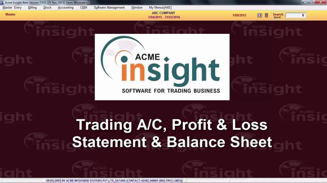 trading account p l balance sheet marathi youtube