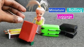 Miniature Rolling Luggage Toy for kids - Matchbox Crafts | Easy Doll Furniture DIY