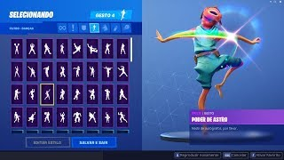 PEIXOTO DOING ALL THE DANCES AND GESTURES! THE FUNNIEST SKIN OF THE GAME! Fortnite