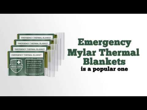 248cb07ae0 Swiss Safe Emergency Mylar Thermal Blankets - YouTube