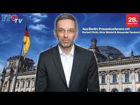 Pressekonferenz aus Berlin mit Herbert Kickl und der AfD!
