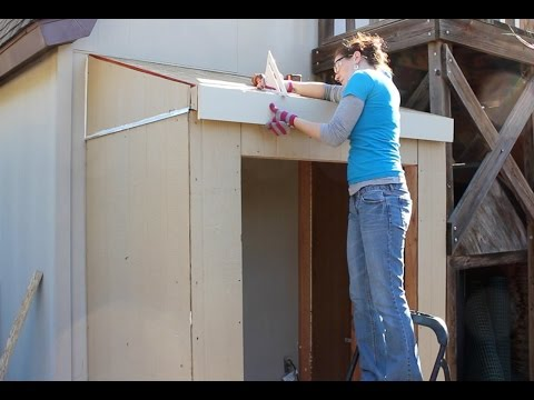 Building a Lean To - Trim and Insulation (Part 2)