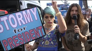 People On The Street In West Hollywood Talk Stormy Daniels Day, Key To The City & Donald Trump!