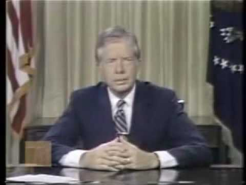 USA President Jimmy Carter's Warning of Consumerism