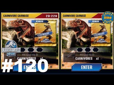 New Jurassic World The Game Carnivore Carnage VIP Battles Episode 120 Vs Indominus Dinosaurs WD Toys