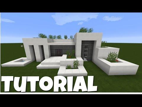 Minecraft modernes Haus - weiß/grau bauen - Tutorial/Anleitung 2016 [deutsch]