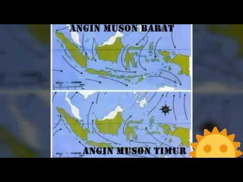 Angin musim barat melewati indonesia bagian barat. Angin Muson Barat Dan Angin Muson Timur Youtube