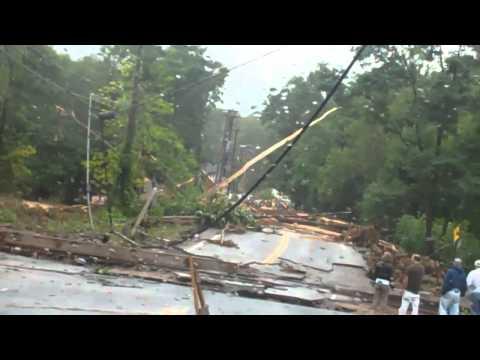 Hurricane Irene hits the Catskills, Phoenicia, Shandaken