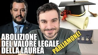 Abolizione del valore legale della laurea: Parliamone!