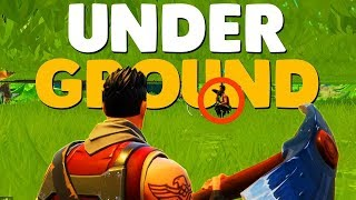 Fortnite - Under the Map Hiding Spot Glitch in Retail Row!!!