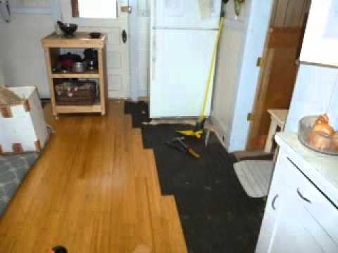 Bamboo Floor Installation Youtube