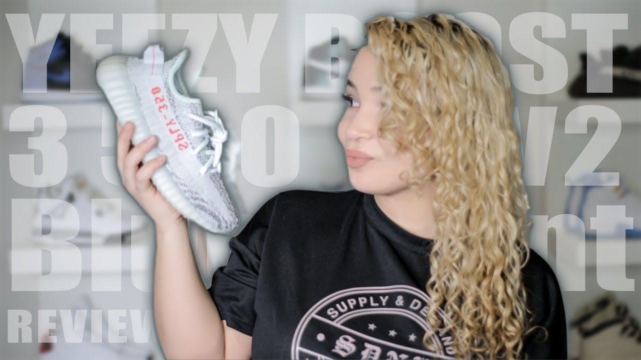 d7f7cc432078b ZEBRAS vs BLUE TINT  Adidas Yeezy Boost 350 V2 BLUE TINT ON FOOT REVIEW
