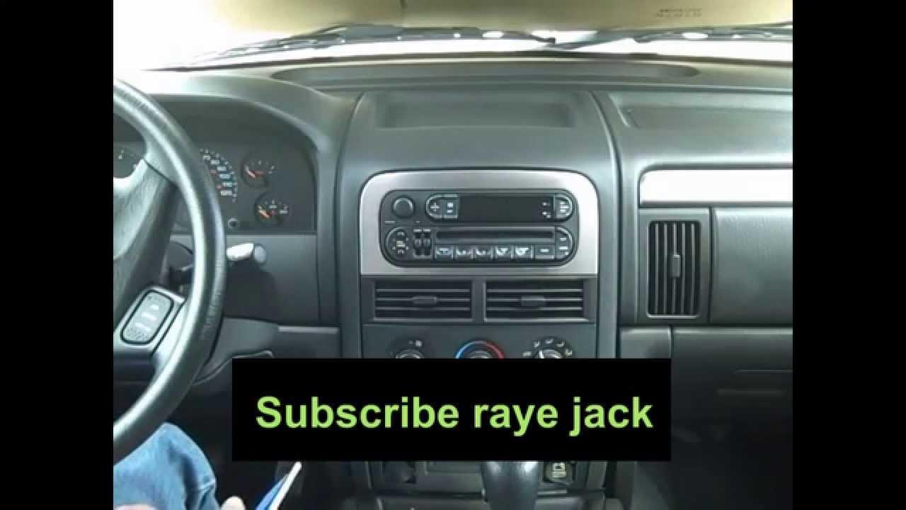 19992004 Jeep Grand Cherokee Original Autoradio Stereo Removal and Installation  YouTube