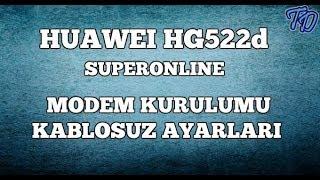 Huawei HG522d Superonline Modem Kurulumu