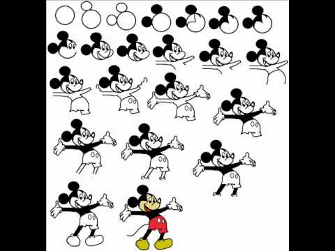 How To Draw Mickey Mouse Cartoon Step By Step Drawing Tutorial