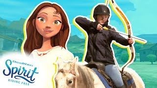 Mounted Archery CHALLENGE + Archery Tips! Horseback Riding Archery Lessons! | THAT'S THE SPIRIT