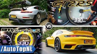 Porsche 992 Turbo S vs 991 GT2 RS 0-330KM/H ACCELERATION & SOUND by AutoTopNL
