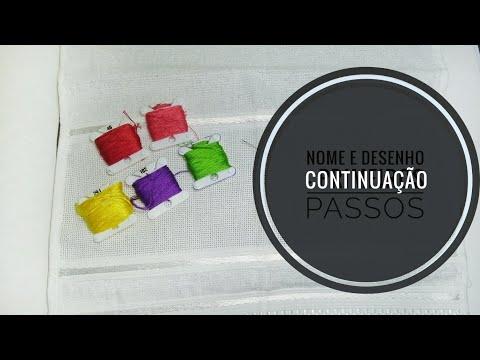 #11 VídeoAula - Ponto Cruz: TOALHINHA ESCOLAR Parte 2