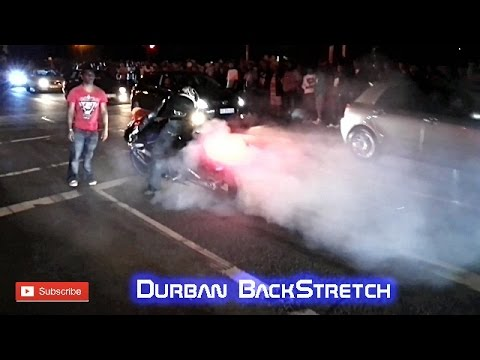 Bike Burnout Fail in Durban - Street racing