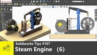 Solidworks tutorials #107   Steam Engine with Horizontal Beam (6)   solidworks2020 tips