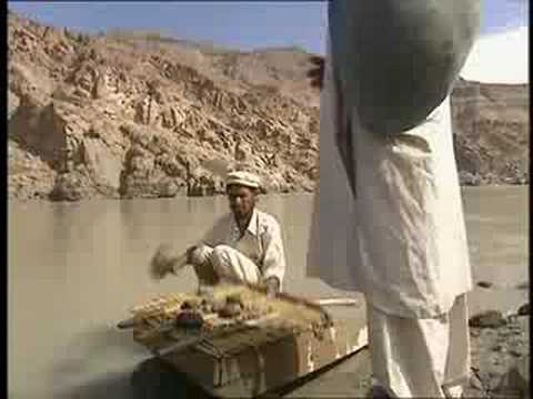 Gold mining in the Indus River - Pakistan